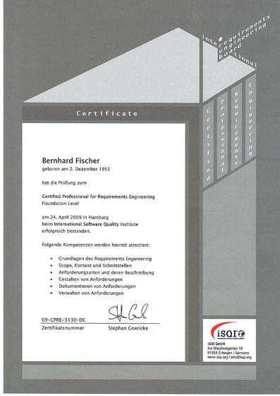 IREB Certified Professional für Requirement Management